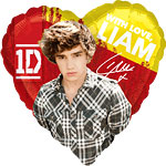 One Direction Liam Herz-Ballon - 46cm