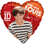 One Direction Louis Herz-Ballon - 46cm