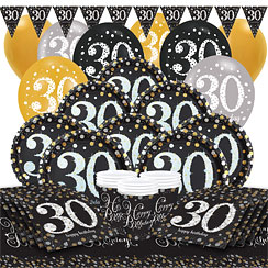 strahlender 30 geburtstag party deko party city. Black Bedroom Furniture Sets. Home Design Ideas