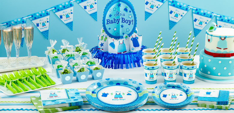 Es ist ein junge baby shower party deko partycity de for Baby shower party deko