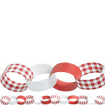 Picknick Party - Papierkette 3,9m