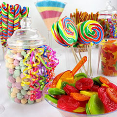 Regenbogen Candy Bar