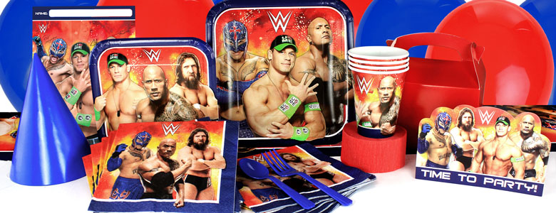 WWE Wrestling Party Deko